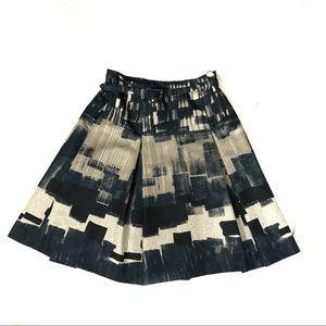 MaxMara Weekend abstract print pleated skirt